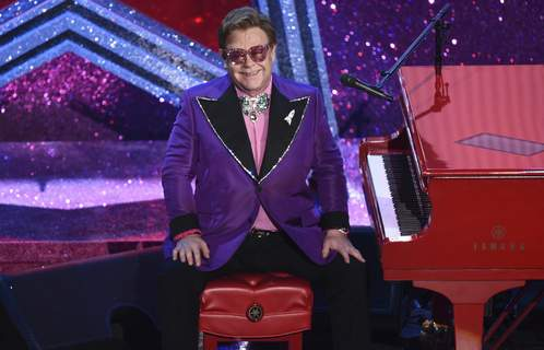 Virus Outbreak Benefit Concert FILE - In this Sunday, Feb. 9, 2020, file photo, Elton John is seen after performing