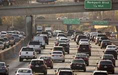 Trump Mileage Rollbacks Associated Press Traffic is shown in 2018 on the Hollywood Freeway in Los Angeles. President Donald Trump is expected to roll back Obama-era standards on vehicle mileage and fossil fuel emissions. (Damian DovarganesSTF)