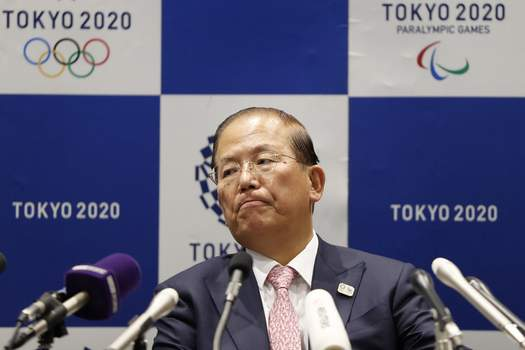 Olympics Tokyo Associated Press Toshiro Muto, CEO of the Tokyo 2020 organizing committee, attends a news conference announcing that the Tokyo Games will be start July 23, 2021. (Issei KatoPOOL)