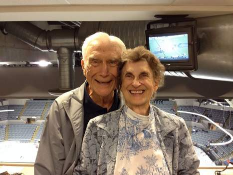 Courtesy Chuck Bailey. WOWO broadcaster Bob Chase and his wife, Murph. Muriel Wallenstein died Tuesday at age 96.