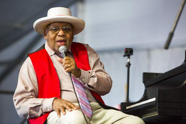 Sophia Germer, File | Associated Press FILE - This April 28, 2019, file photo, shows Ellis Marsalis during the New Orleans Jazz & Heritage Festival in New Orleans. New Orleans Mayor LaToya Cantrell announced Wednesday, that Marsalis has died. He was 85.