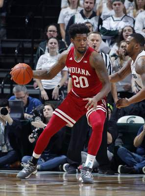 Associated Press photos Indiana's De'Ron Davis battled injuries in his four years with the Hoosiers but still had memorable performances.