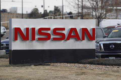 Nissan-Air Bag Recall FILE - In this March 15, 2020, photograph, the company logo stands outside a Nissan dealership in Highlands Ranch, Colo. Nissan is recalling more than a quarter-million SUVs, trucks and vans worldwide, Thursday, April 2, to replace potentially dangerous Takata air bag inflators. The vehicles have air bags with volatile ammonium nitrate that can explode with too much force and hurl shrapnel. (AP Photo/David Zalubowski, File) (David Zalubowski STF)