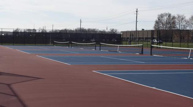 Michelle Davies | The Journal Gazette Northrop High School's tennis courts will stay empty this spring as the end of the school year also ended spring sports.