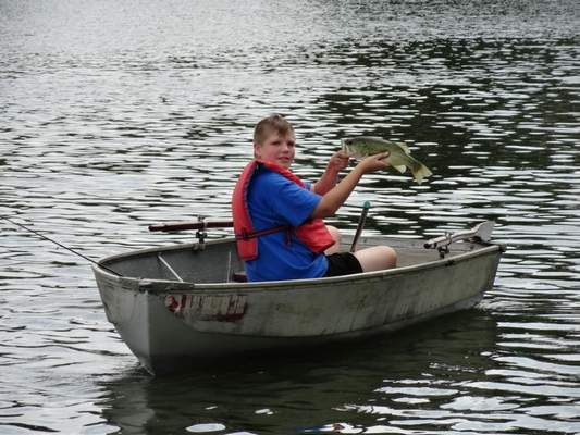 Courtesy photos Nicky Cutter, 12, of Niles, Mich., caught this largemouth bass in August while on vacation at his grandparents' lake.