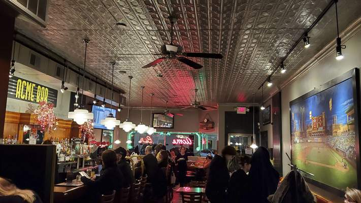 The legendary bar room at Acme Bar & Grill on East State Boulevard.
