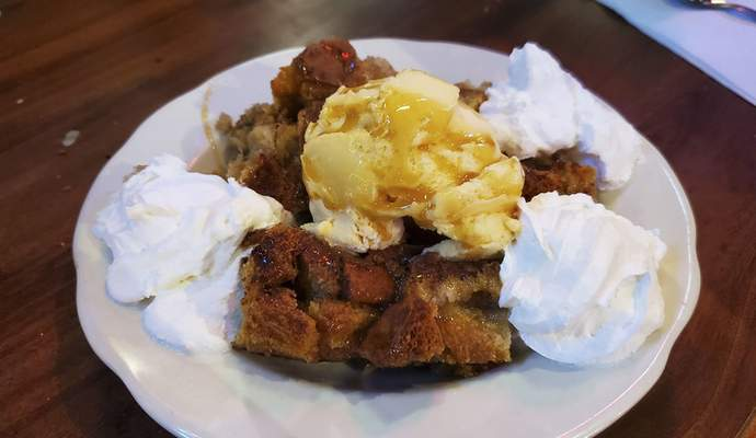 Bread pudding from the Acme Bar & Grill on East State Boulevard.