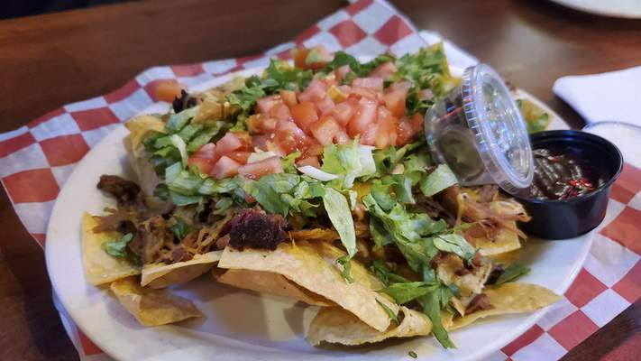 Pulled pork nachos from the Acme Bar & Grill on East State Boulevard.