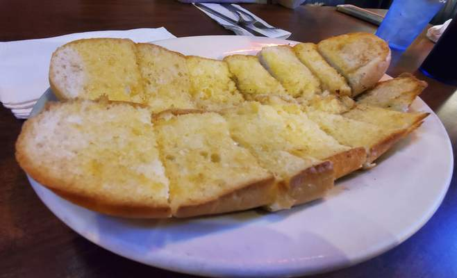Homemade garlic bread from the Acme Bar & Grill on East State Boulevard.