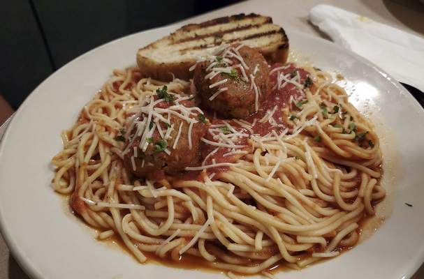 Spaghetti and meatballs from the Acme Bar & Grill on East State Boulevard.