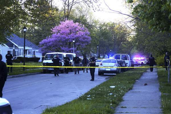 Katie Fyfe | The Journal Gazette Police say an infant was hurt in a drive-by shooting Wednesday night on South Monroe Street.