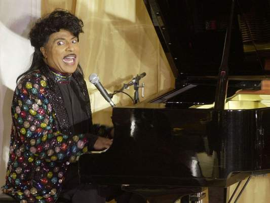 In this July 22, 2001 file photo, Little Richard performs at the 93rd birthday and 88th year in show business gala celebration for Milton Berle, in Beverly Hills, Calif. (AP Photo/John Hayes, File)
