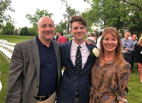 Courtesy Bill DeSalvo and his ex-wife Beth Behrendt where on hand last spring for Jack's graduation from Canterbury