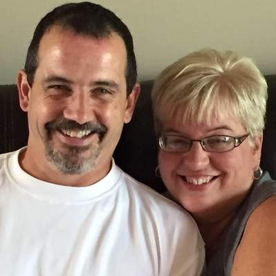 Courtesy Former Komets player Doug Rigler, who was recently released from the hospital, poses with his wife, Lynne.