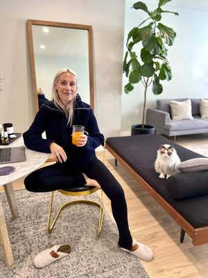 Associated Press Goop fashion director Ali Pewsees a pronounced fashion trend is emerging in loungewear.