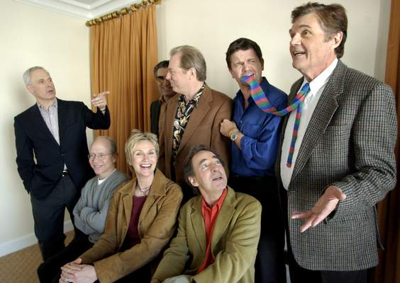 FILE - In this March 21, 2003, file photo, the cast of the film
