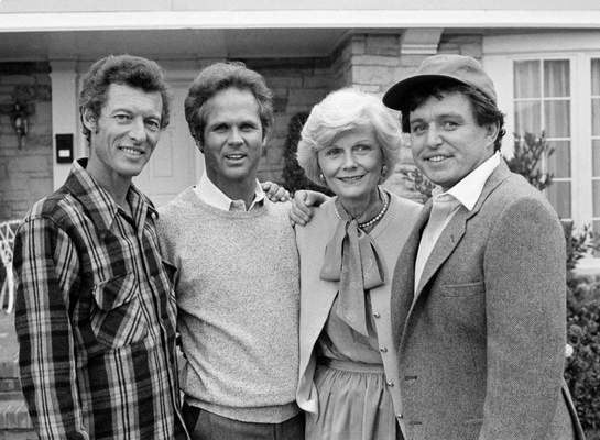 FILE - This Dec. 10, 1982 file photo shows members of the original cast of the