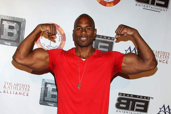 FILE - In this July 15, 2013, file photo, professional wrestler Shad Gaspard attens the 8th Annual BTE All-Star Celebrity Kickoff Party at the Playboy Mansion in Beverly Hills, Calif. (Photo by Paul A. Hebert/Invision/AP, File)