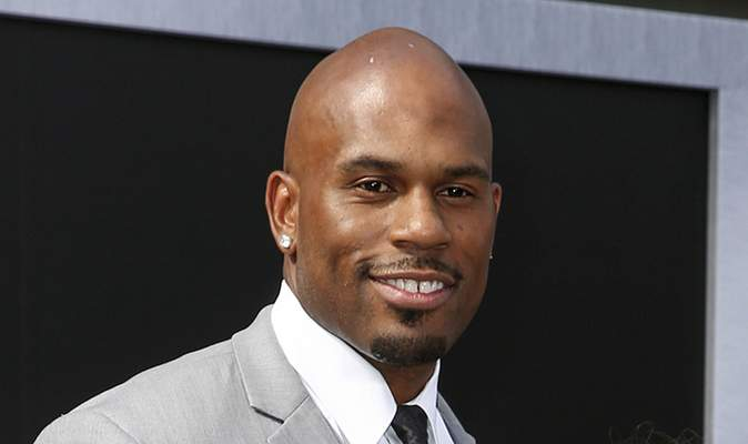 FILE - In this June 28, 2015 file photo, WWE wrestler Shad Gaspard arrives at the Los Angeles premiere of