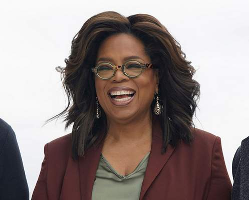 FILE - This March 25, 2019 file photo shows Oprah Winfrey during an event to announce new Apple products in Cupertino, Calif.  (AP Photo/Tony Avelar, File)