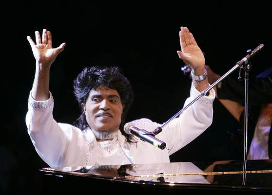 FILE - In this Aug. 19, 2004 file photo, Little Richard performs at Westbury Music Fair in Westbury, NY. (AP Photo/Ed Betz, File)