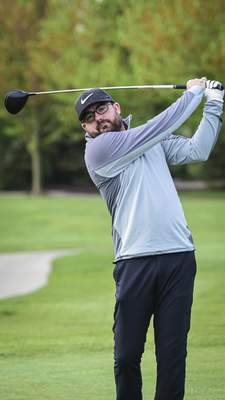 Mike Moore | The Journal Gazette Local golfer Johnny Strawser, playing  Wednesday at Autumn Ridge Golf Club, says  he's adjusting to changes on the golf course.