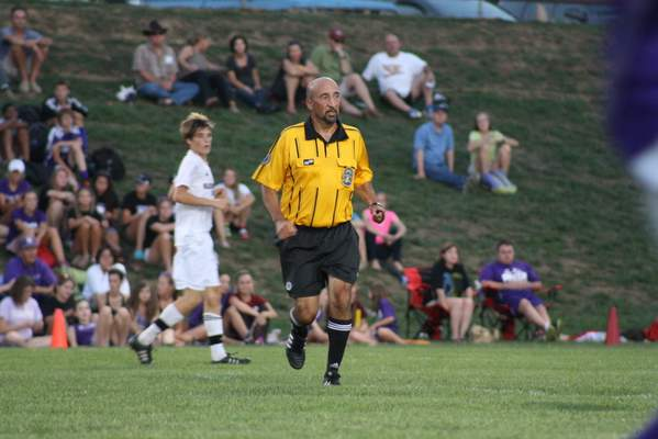 Tian Liang | Special to The Journal Gazette Bill Shaw of Fort Wayne has refereed soccer for about 20 years.