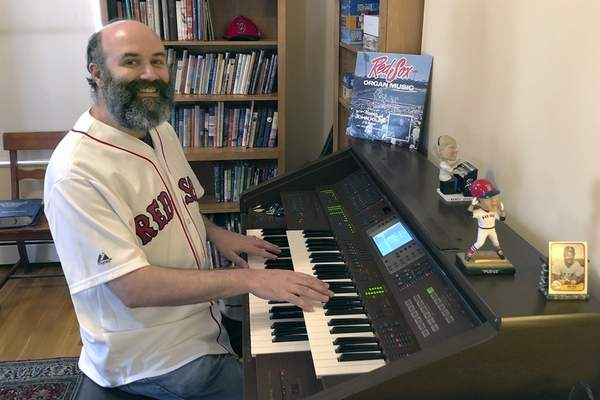 Associated Press  Josh Kantor, the Boston Red Sox organist, plays in his home in Cambridge, Mass., each afternoon since what would have been opening day. He livestreams ballpark music and other requests.