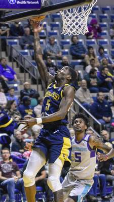 File  Edmond Sumner goes up for a basket for the Mad Ants this season at Memorial Coliseum.