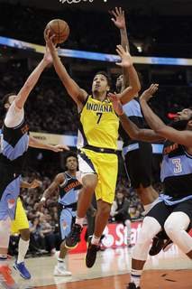 Pacers Cavaliers Basketball Associated Press The Indiana Pacers' Malcolm Brogdon drives to the basket against the Cleveland Cavaliers on Feb. 29 in Cleveland. (Tony DejakSTF)