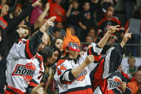 File The Komets led the ECHL in average announced attendance last season with 8,090 per game.