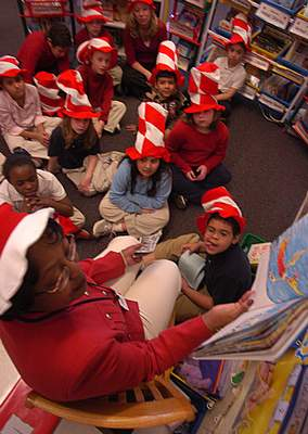 File  FWCS Superintendent Dr. Wendy Robinson reads a Dr. Suess book to students in Lyne Sheek's second grade class at Indian Village Elementary School.