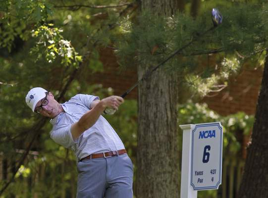 Courtesy Bentley University Athletics Homestead graduate Ellis Yoder helped Bentley University reach the NCAA Division II men's golf championships in 2019 as a sophomore.