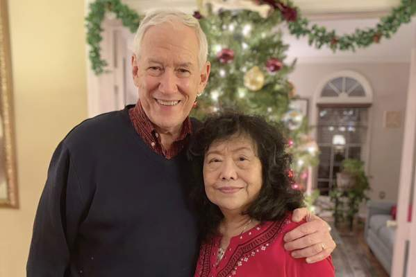 Associated Press In this December 2018 photo released by the Stemberger family, Victor and his wife Han are shown at their home in Centreville, Va.