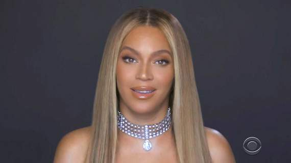 2020 BET Awards In this video grab issued Sunday, June 28, 2020, by BET, Beyonce accepts the humanitarian award during the BET Awards. (BET via AP) (HONS)