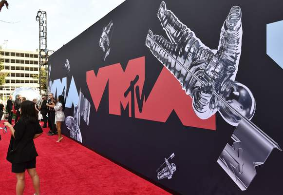 FILE - This Aug. 26, 2019 file photo shows a view of the red carpet at the MTV Video Music Awards in Newark, N.J. (Photo by Charles Sykes/Invision/AP, File)