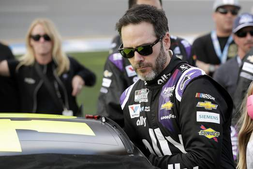 IndyCar Johnson Indy 500 Auto Racing Associated Press  Seven-time Cup champion Jimmie Johnson has tested positive for the coronavirus and will miss Sunday's Brickyard 400 at the Indianapolis Motor Speedway. (John RaouxSTF)