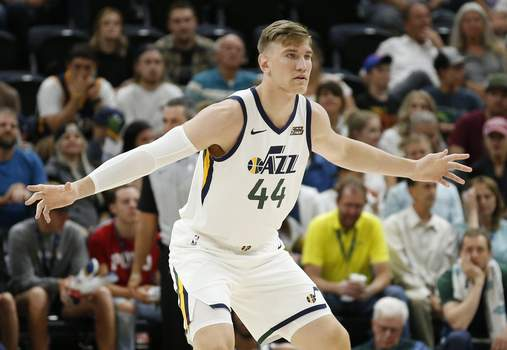 Perth Wildcats Jazz Basketball Associated Press Former Purdue player Isaac Haas, seen in 2018, is competing for Men of Mackey in The Basketball Tournament. (Rick BowmerSTF)