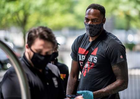 Ben Solomon | Special to The Journal Gazette Deshaun Thomas, a former Bishop Luers star, arrives in Columbus, Ohio, for The Basketball Tournament.