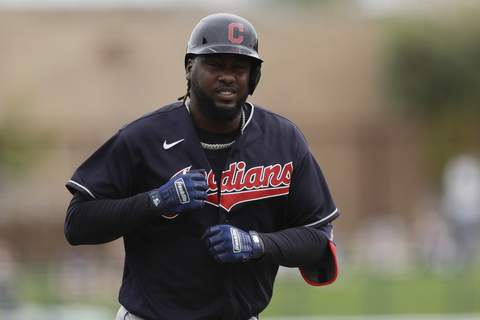 Indians Reyes Baseball Associated Press Cleveland's Franmil Reyes apologized Thursday for endangering his health and his teammates' by not wearing a mask while at a holiday party.  (Gregory BullSTF)