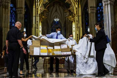 APTOPIX Virus Outbreak New York Associated Press The cremated remains of Mexicans who died from COVID-19 are covered at St. Patrick's Cathedral in New York. The ashes were blessed before they were repatriated to Mexico. (Eduardo Munoz AlvarezFRE)
