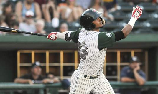 Michelle Davies | The Journal Gazette Fernando Tatis Jr., who hit 21 home runs with the TinCaps in 2017, is starting the season with the San Diego Padres. (Michelle Davies)