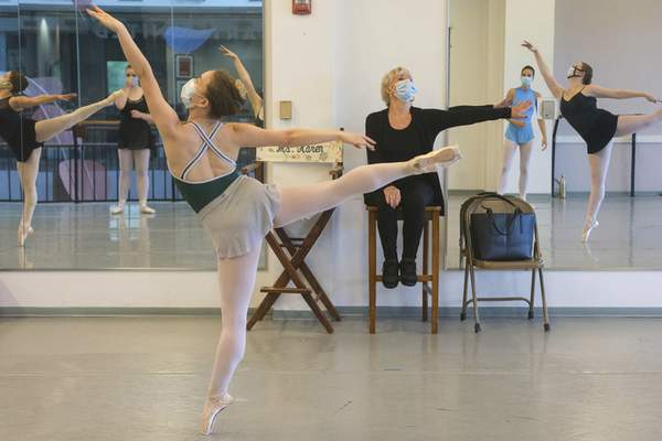 Basden directs dancers during a recent session. The dancers will showcase what they've learned during the four-week program at a showcase July 31 at ArtsUnited Center.