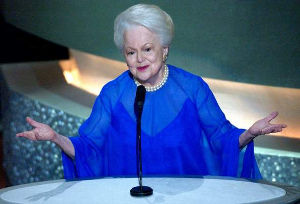 Associated Press: Actress Olivia de Havilland, seen here during the 2003 Academy Awards, has died at age 104, her publicist said Sunday.