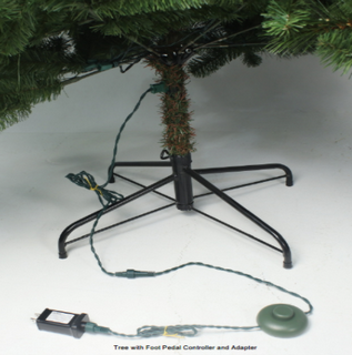 Recalled foot pedal controller and adapter with Christmas tree.