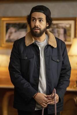 This image released by Hulu shows Ramy Youssef in a scene from Ramy. Youssef was nominated for an Emmy Award for outstanding lead actor in a comedy series on Tuesday, July 28, 2020. (Craig Blankenhorn/Hulu via AP)