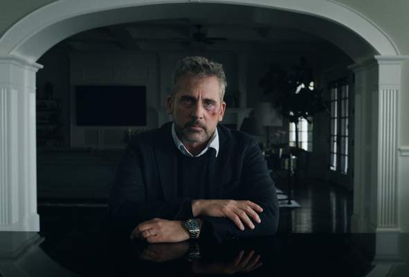 This image released by Apple TV Plus shows Steve Carell in a scene from The Morning Show. Carell was nominated for an Emmy Award for outstanding leading actor in a drama series on Tuesday, July 28, 2020. (Apple TV Plus via AP)