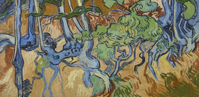 """Van Gogh Museum Vincent Van Gogh's last painting was """"Tree Roots.""""The artist is believed tohave fatally shot himself after working on the painting in a village north of Paris in 1890."""