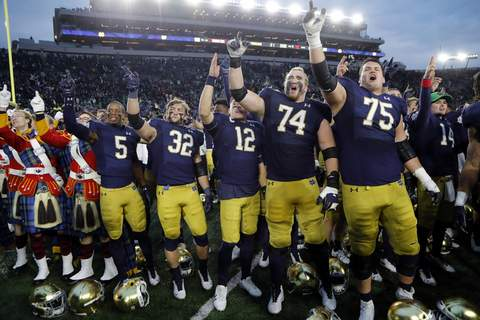 ACC Notre Dame Football Associated Press photos