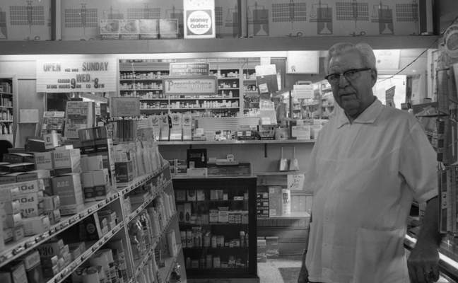 After 48 years, Fred Weseloh was selling the Weseloh Drug Store at Calhoun and Creighton streets. He planned to continue working part time as a pharmacist. The store was 63 years old, and Weseloh had owned it since May 1, 1922.